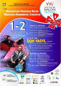 Plakat XXV Muzyczne Dialogi nad Bugiem