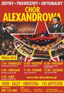 plakat chór 2018 ogólny trasa
